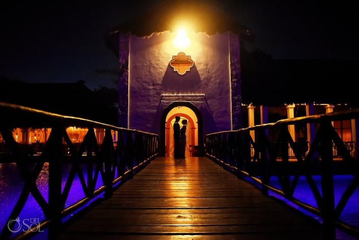Riviera Cancun Wedding Bridge Silhouette Portrait Now Sapphire
