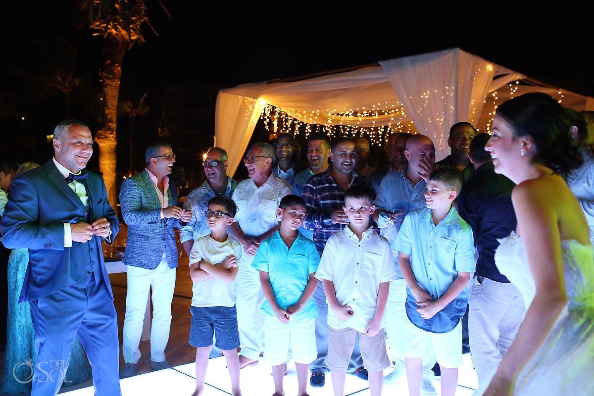 Destination Wedding getting serious firs dance Dreams Riviera Cancun Resort Mexico