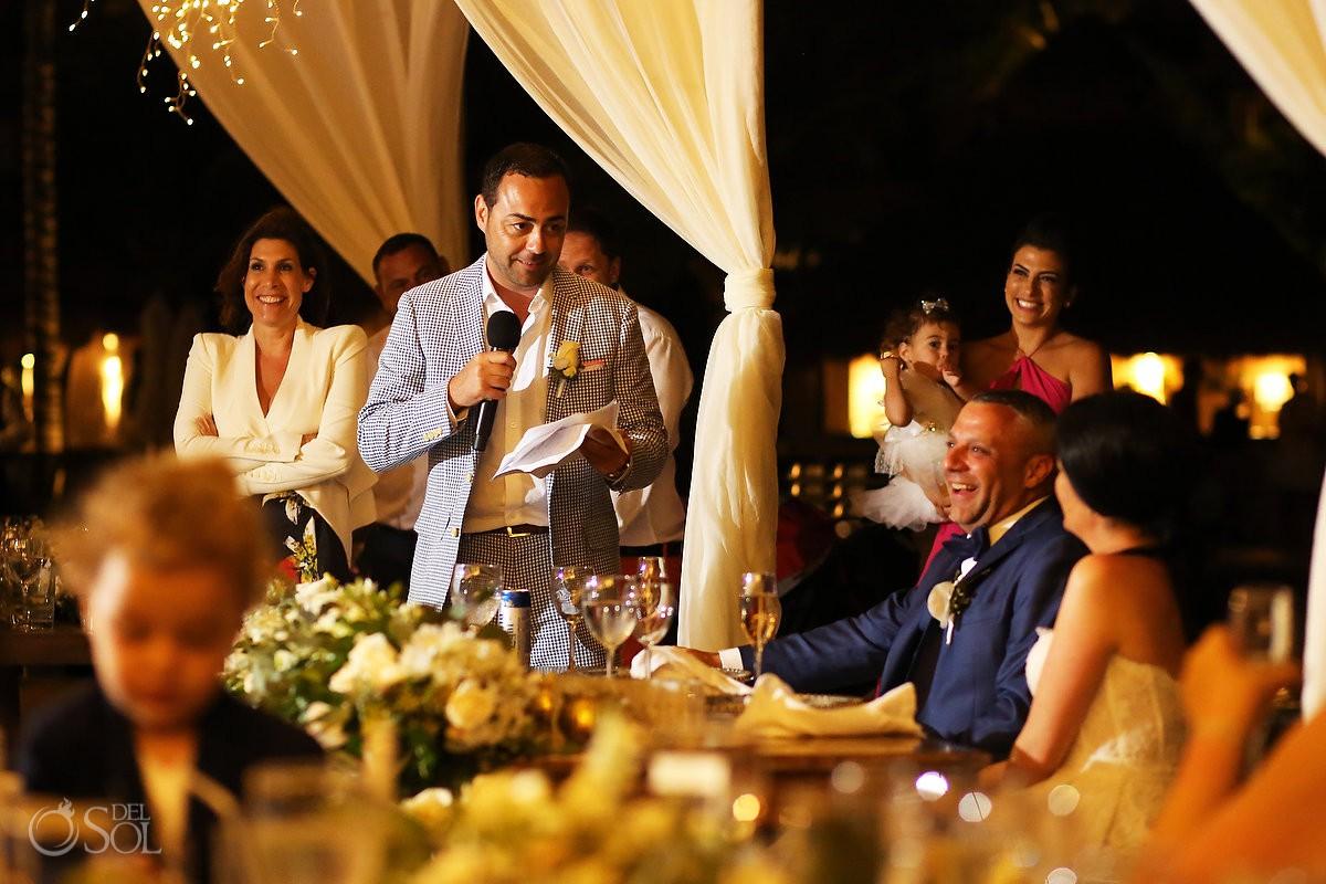 Destination Wedding best man speech Dreams Riviera Cancun Resort Mexico