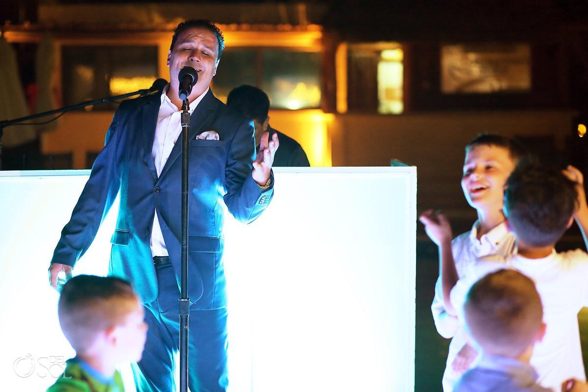 Destination Wedding singing fun Dreams Riviera Cancun Resort Mexico
