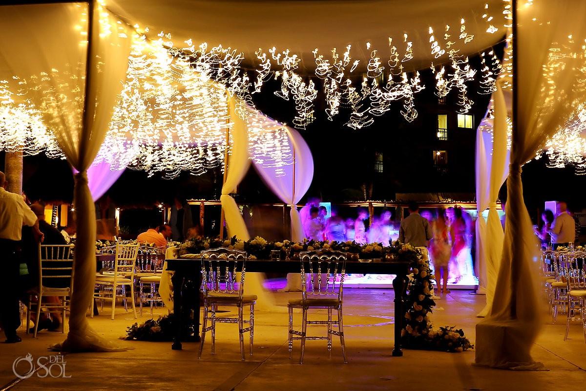 Destination Wedding venue long exposure Dreams Riviera Cancun Resort Mexico