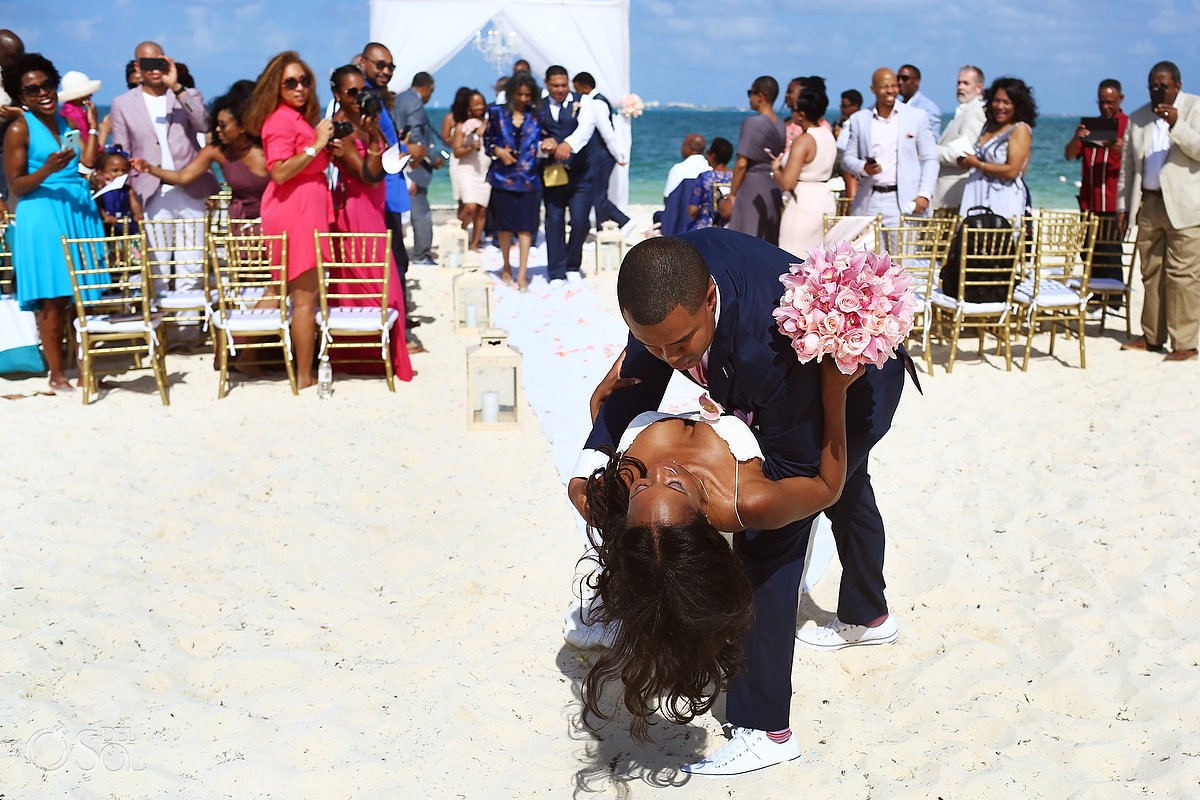 just married Finest Resort Playa Mujeres Cancun Mexico