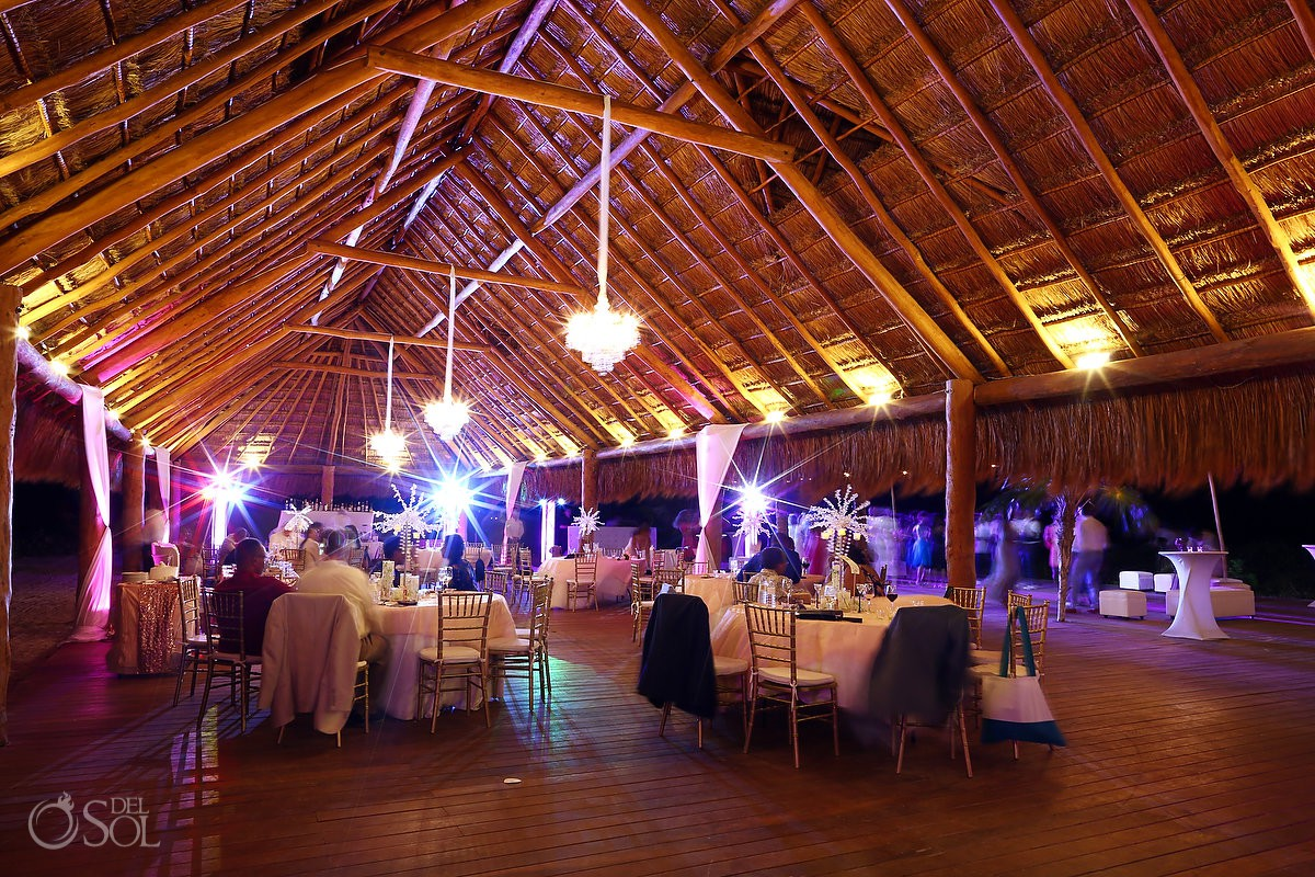 Palapa wedding reception destination wedding Finest Resort Playa Mujeres Cancun Mexico