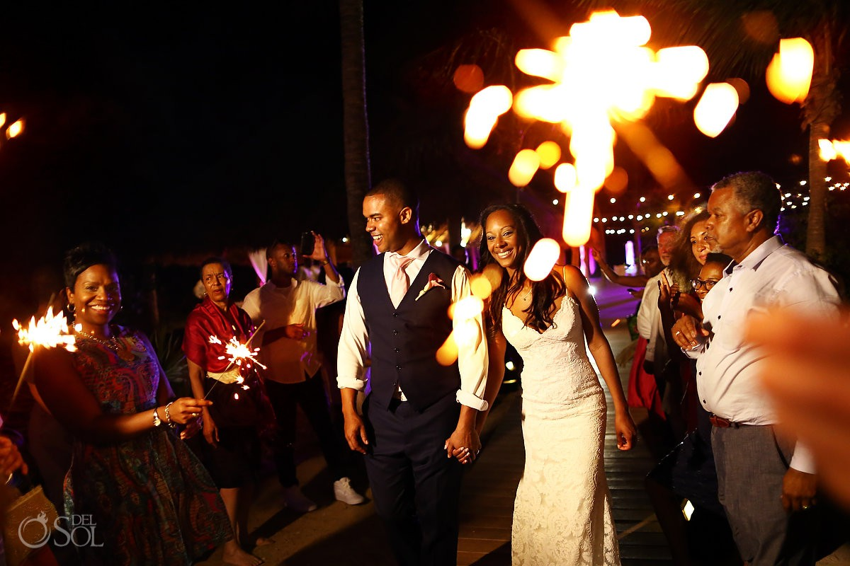 sparklings wedding reception Finest Resort Playa Mujeres Cancun Mexico