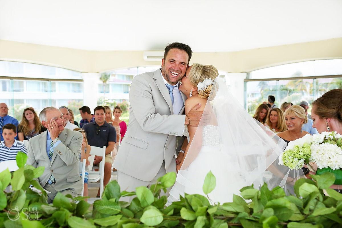 First look wedding ceremony Moon Palace Playa del Carmen Mexico