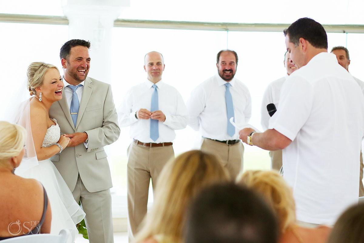 Wedding ceremony speech Moon Palace Playa del Carmen Mexico