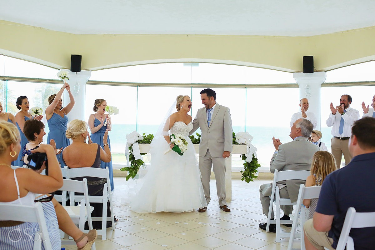 Just married ocean view Moon Palace Playa del Carmen Mexico