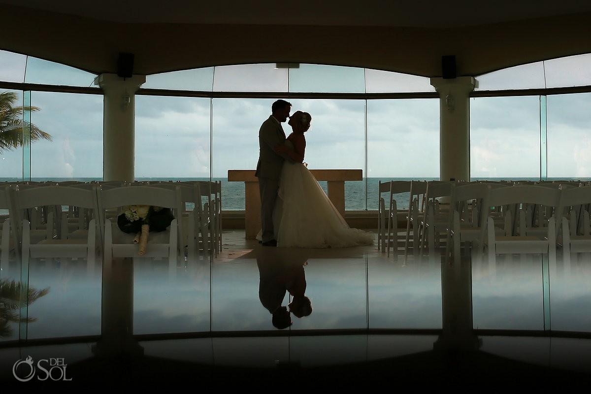 best wedding location ocean view bride and groom silhouette