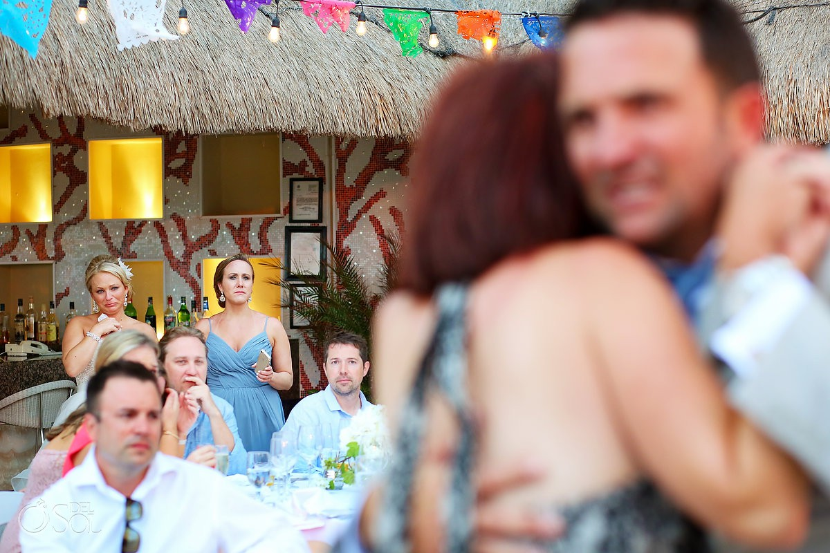first dance mom and groom bride crying Moon Palace Playa del Carmen Mexico
