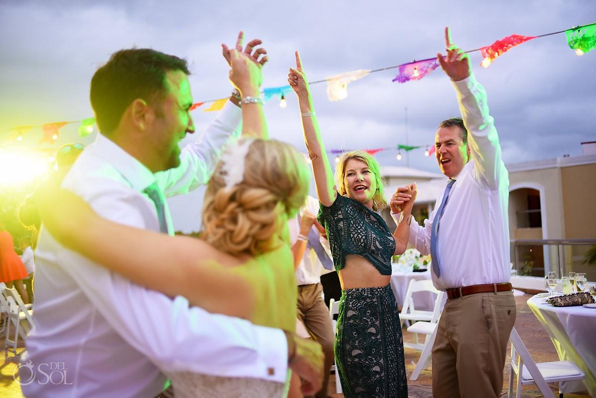 Wedding reception guest moments Moon Palace Playa del Carmen Mexico