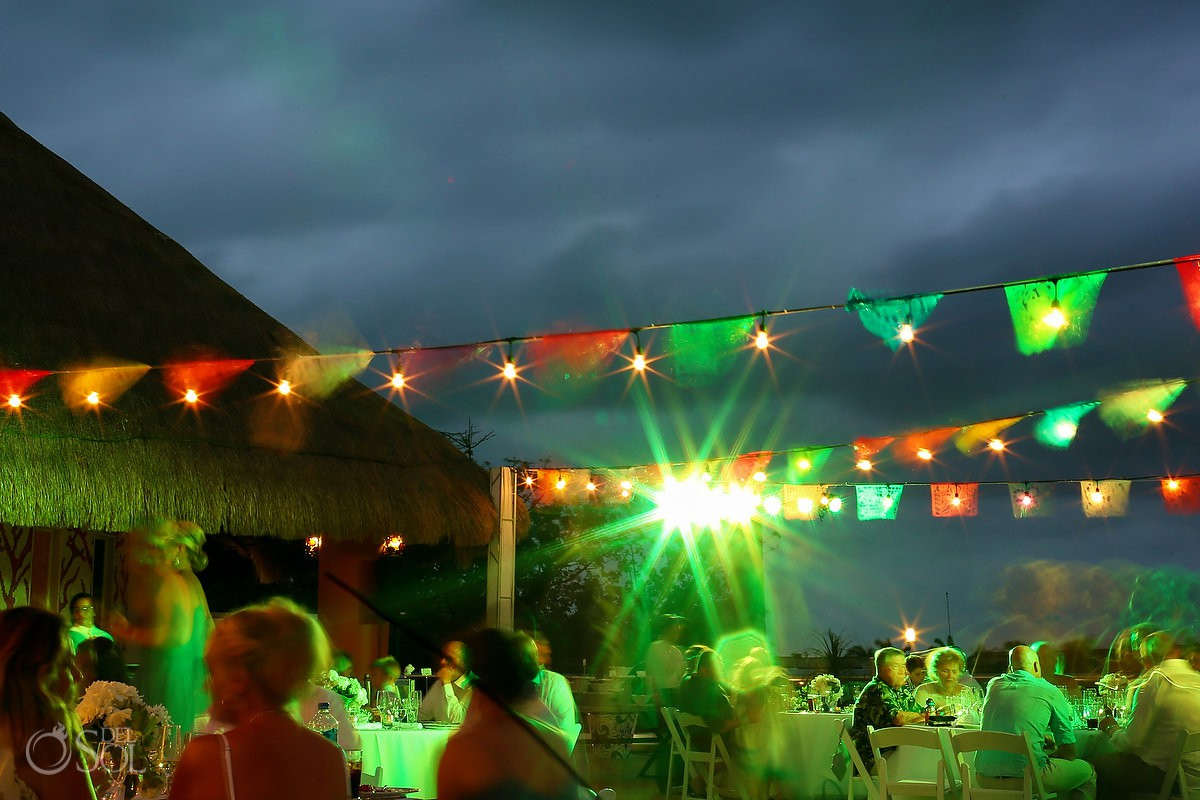 night shoot wedding reception Moon Palace Playa del Carmen Mexico