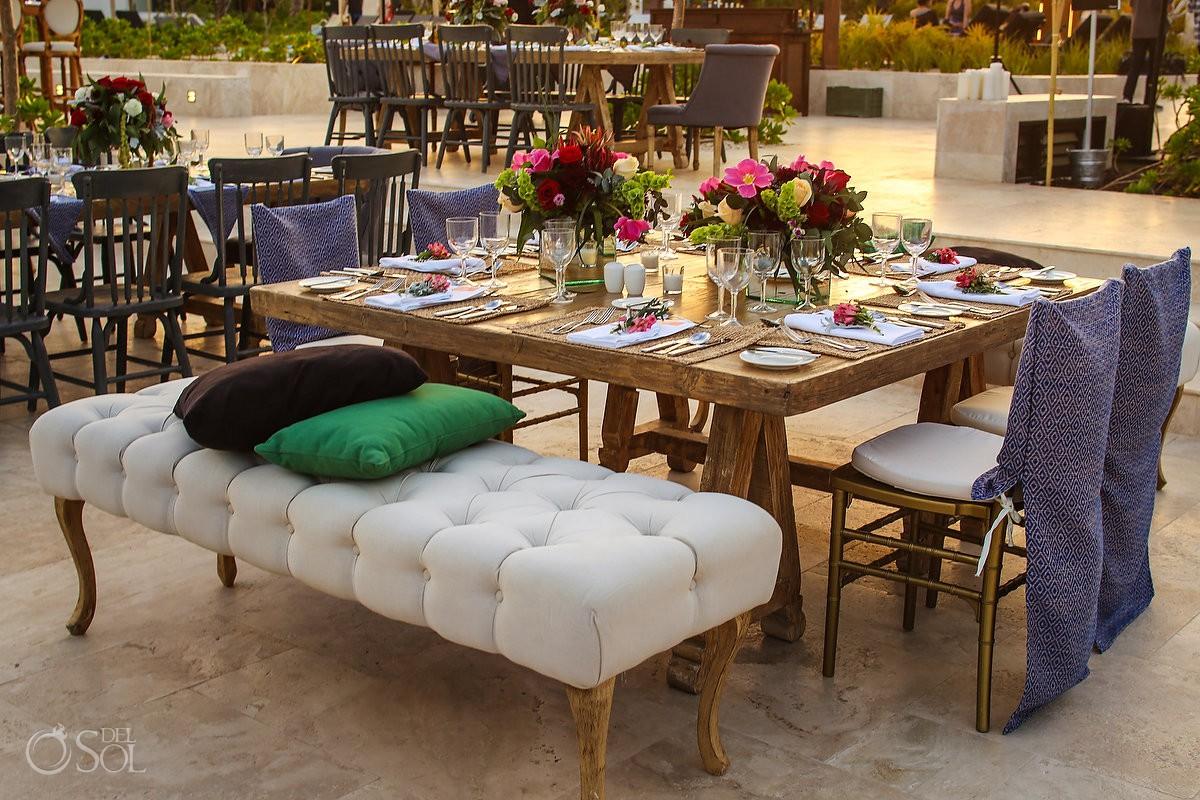 Andaz Mayakoba Wedding Reception setup