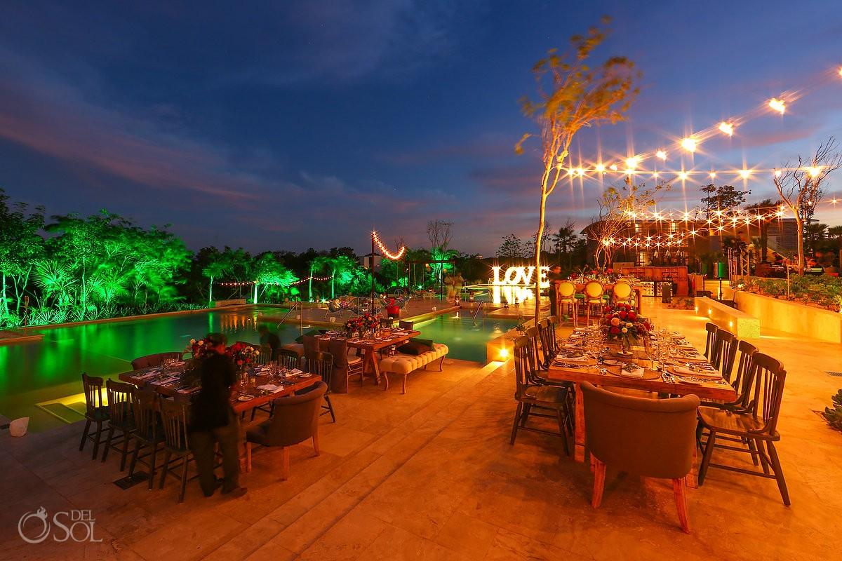Wedding Venue decoration ideas Andaz Mayakoba Playa del Carmen Mexico