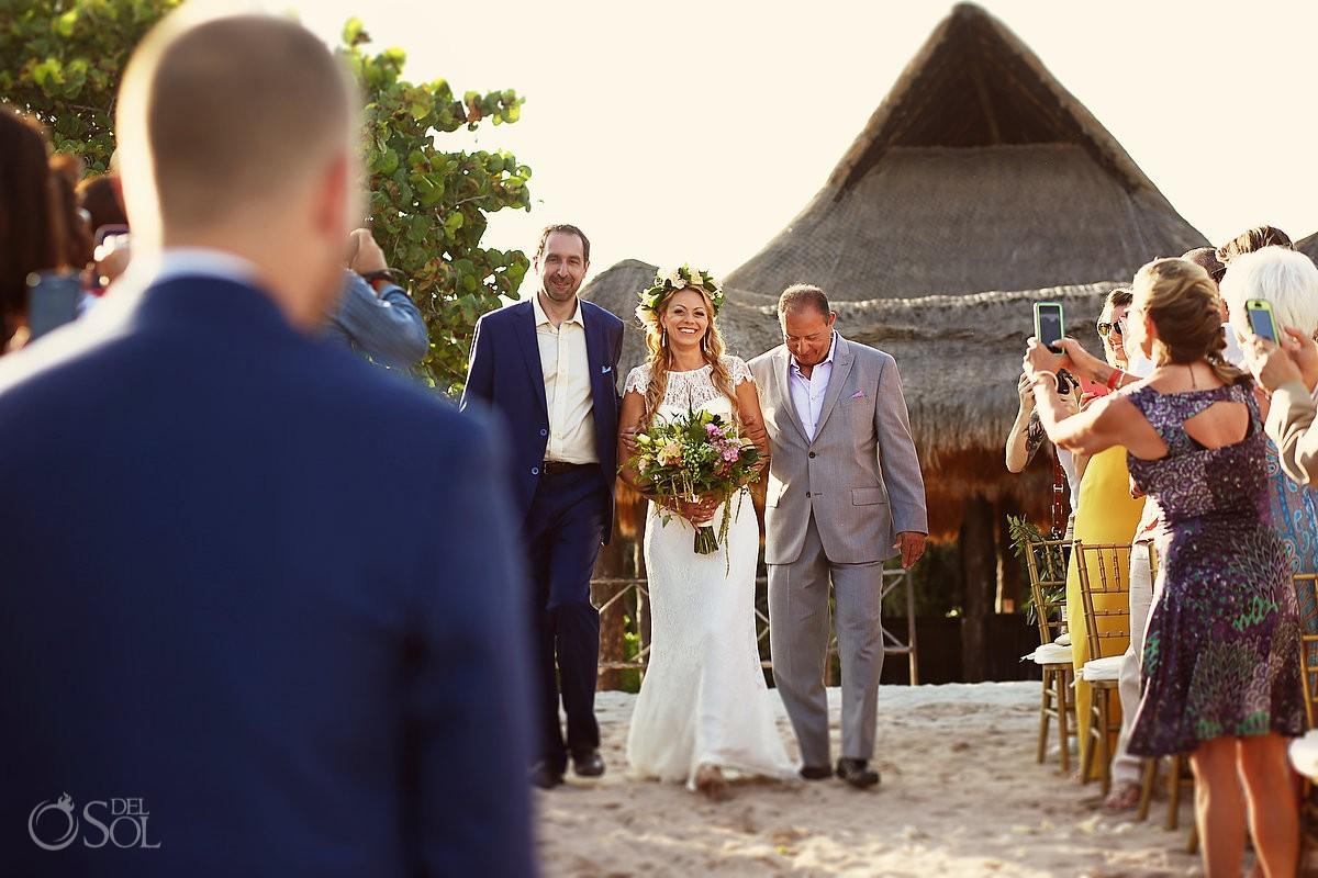 Destination ceremony Beach Wedding at Playacar Palace and Blue Venado Beach Club Playa del Carmen Mexico