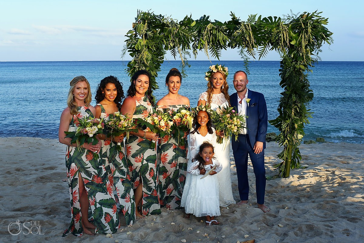 Bridemaid dress ideas Beach Wedding Blue Venado Beach Club Playa del Carmen Mexico