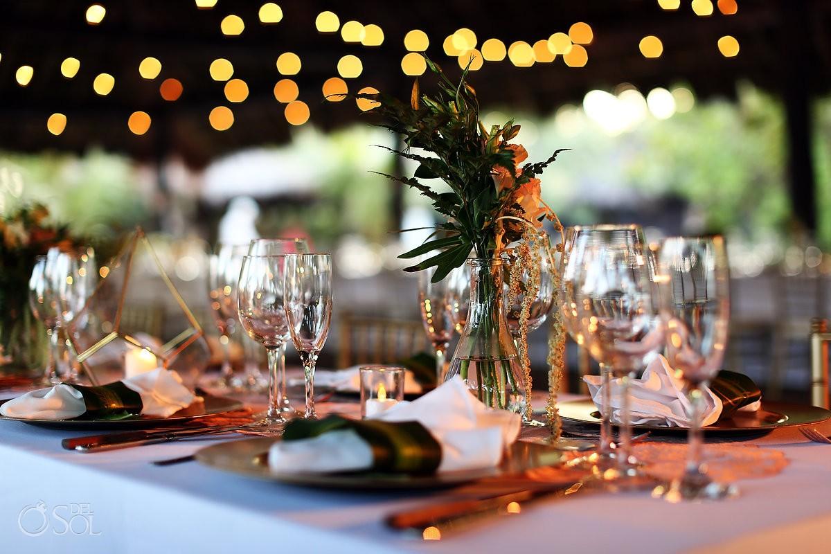 Reception set up Wedding Blue Venado Beach Club Playa del Carmen Mexico