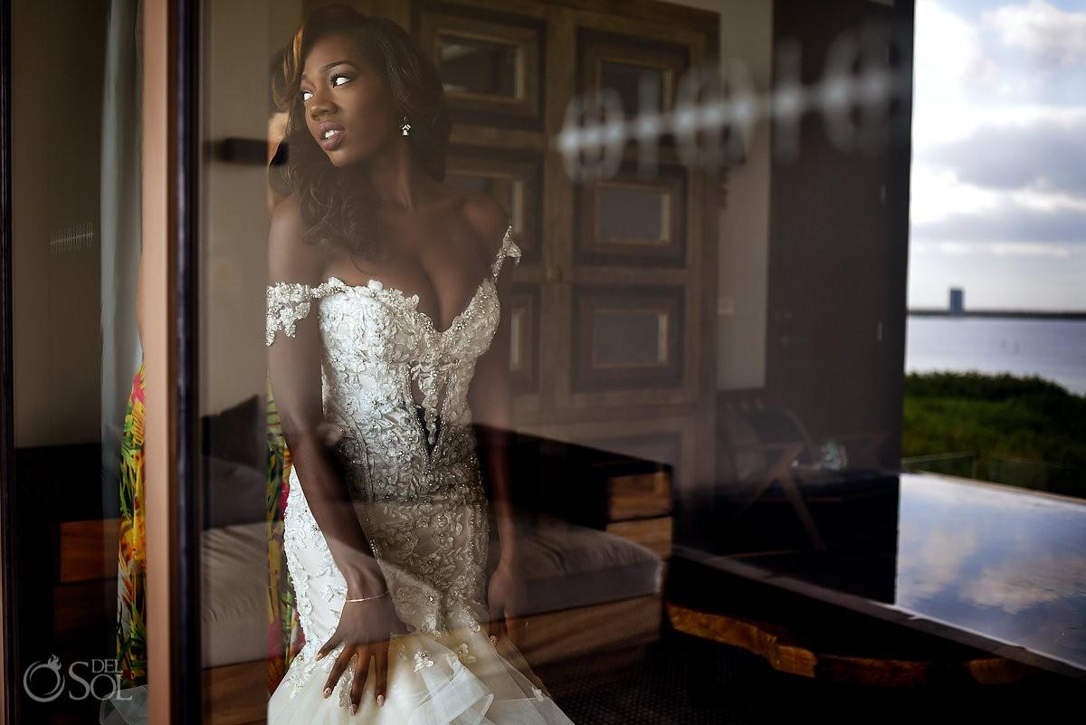 Bride Ready Reflection Nizuc Resort Cancun Mexico Destination Wedding