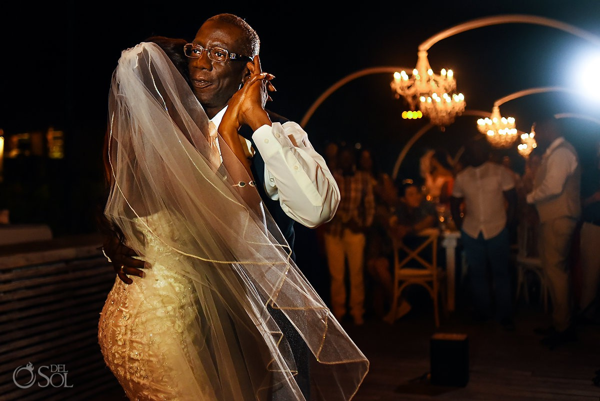 Bride Dad Dance Nizuc Resort Cancun Mexico Destination Wedding