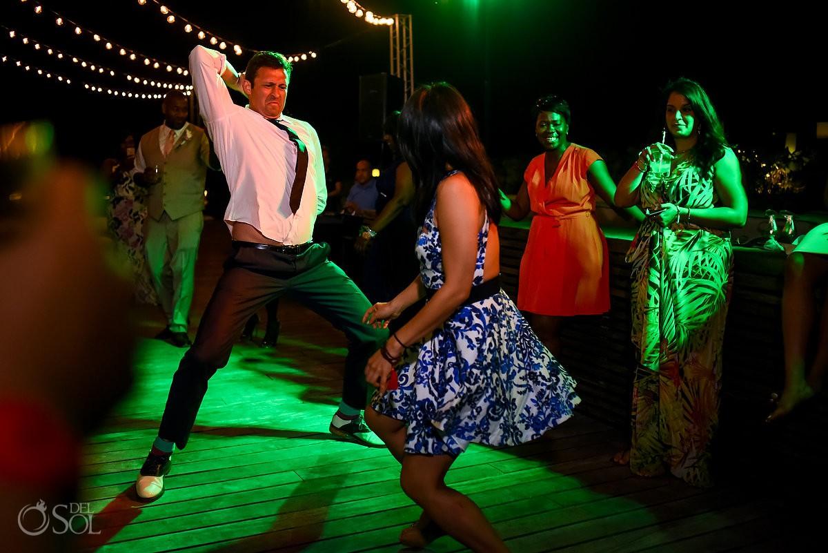 Fun Dancing Floor Nizuc Resort Cancun Mexico Destination Wedding