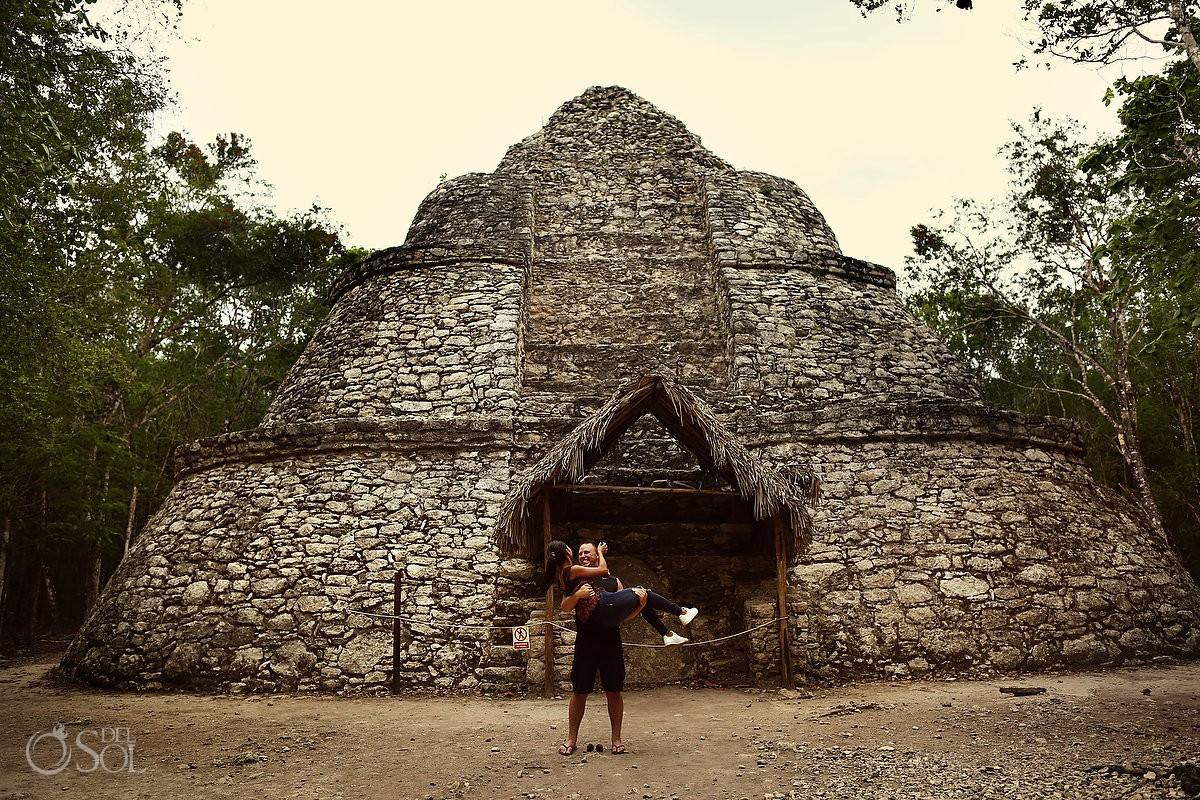 Coba, Tulum México Mayan Ruins engagement photography