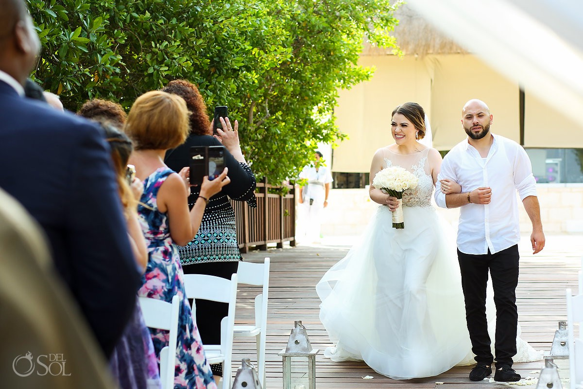 Bride entrance first look Destination Wedding Paradisus La Esmeralda Playa Del Carmen