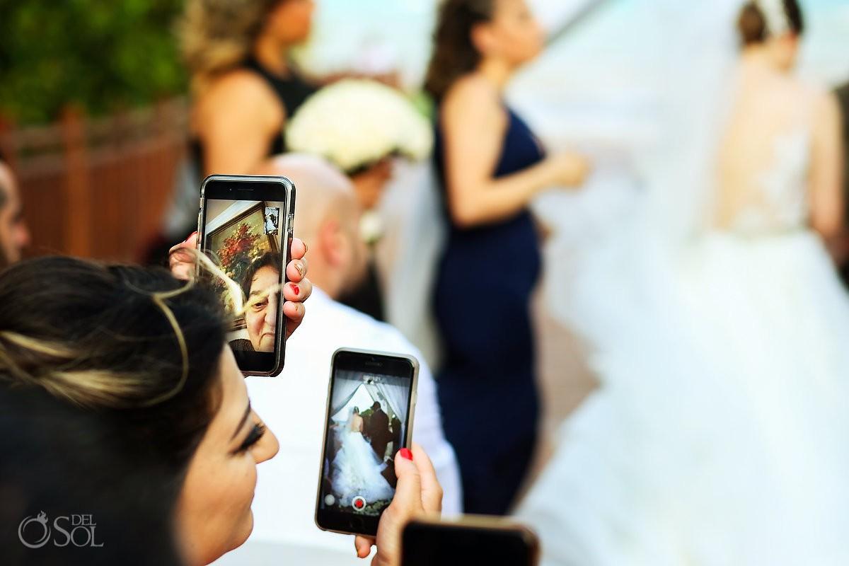 Guest enjoying wedding ceremony Paradisus La Esmeralda Playa Del Carmen