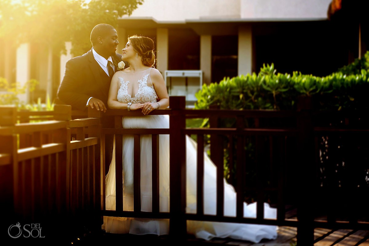 Destination Wedding Paradisus La Esmeralda Playa Del Carmen beautiful sunset light