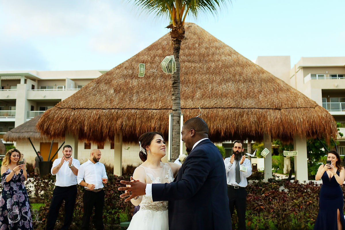 Wedding bride and groom first dance Paradisus La Esmeralda Playa Del Carmen