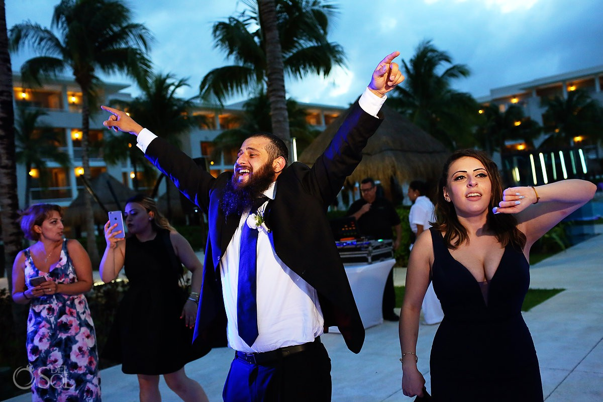 Guest having fun party time Destination Wedding Paradisus La Esmeralda Playa Del Carmen