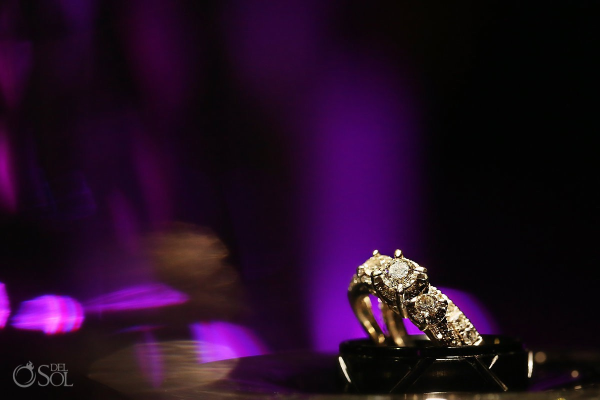 Wedding rings Destination Wedding Paradisus La Esmeralda Playa Del Carmen