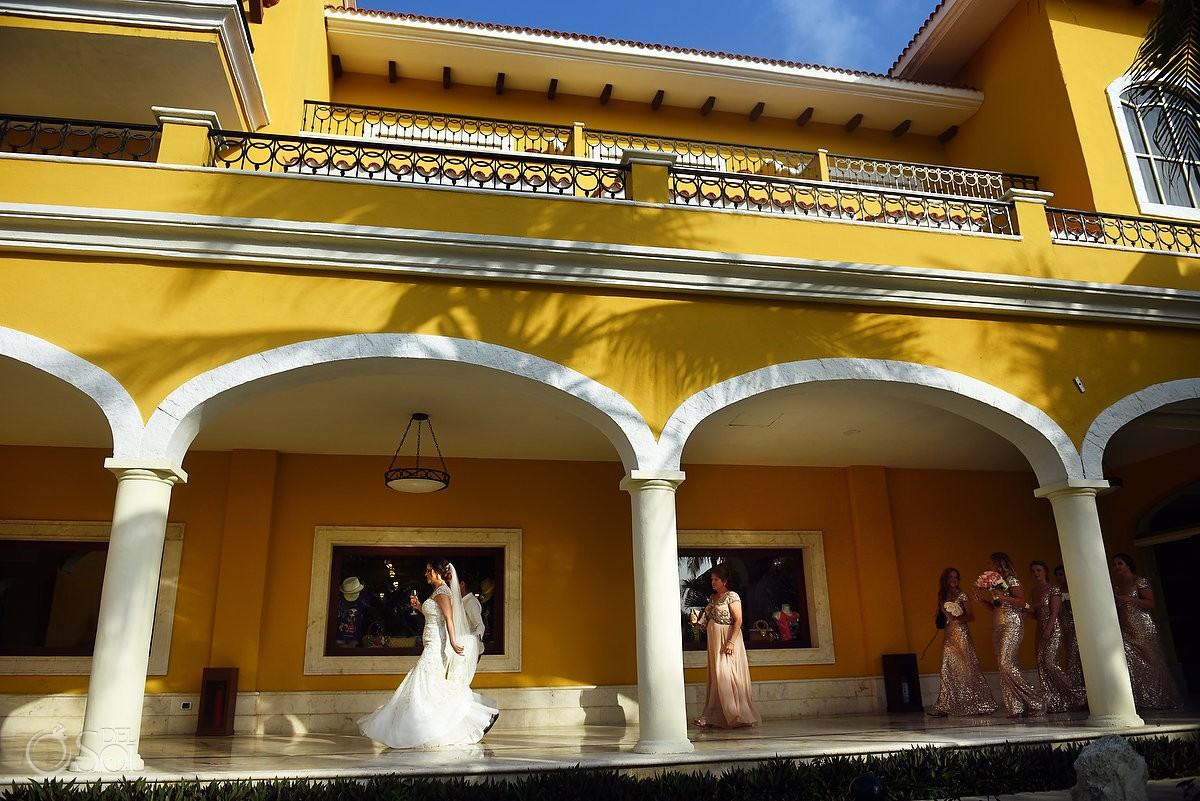 walking to wedding ceremony Secrets Capri Riviera Cancun Playa del Carmen Mexico