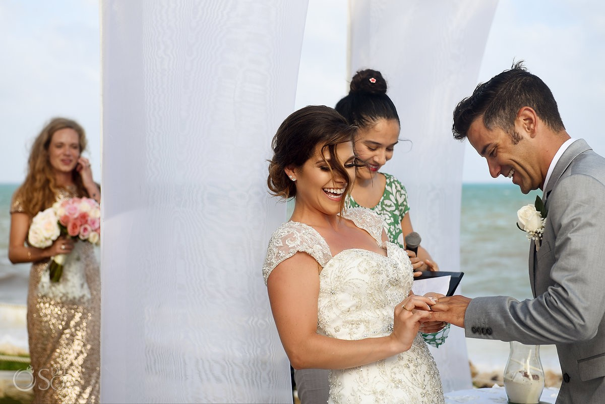 Wedding exchange rings Secrets Capri Riviera Cancun Playa del Carmen Mexico