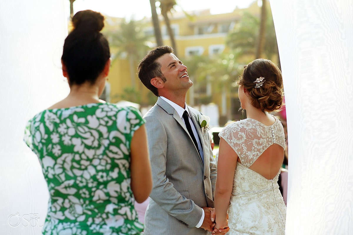fun moments wedding ceremony Secrets Capri Riviera Cancun Playa del Carmen Mexico