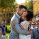 Emotional first kiss destination wedding ceremony Secrets Capri Riviera Cancun Mexico
