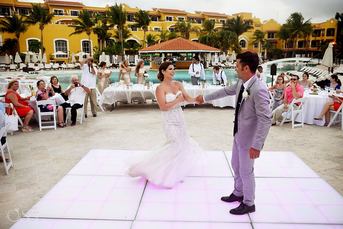 First Dance destination wedding Secrets Capri Riviera Cancun Playa del Carmen Mexico