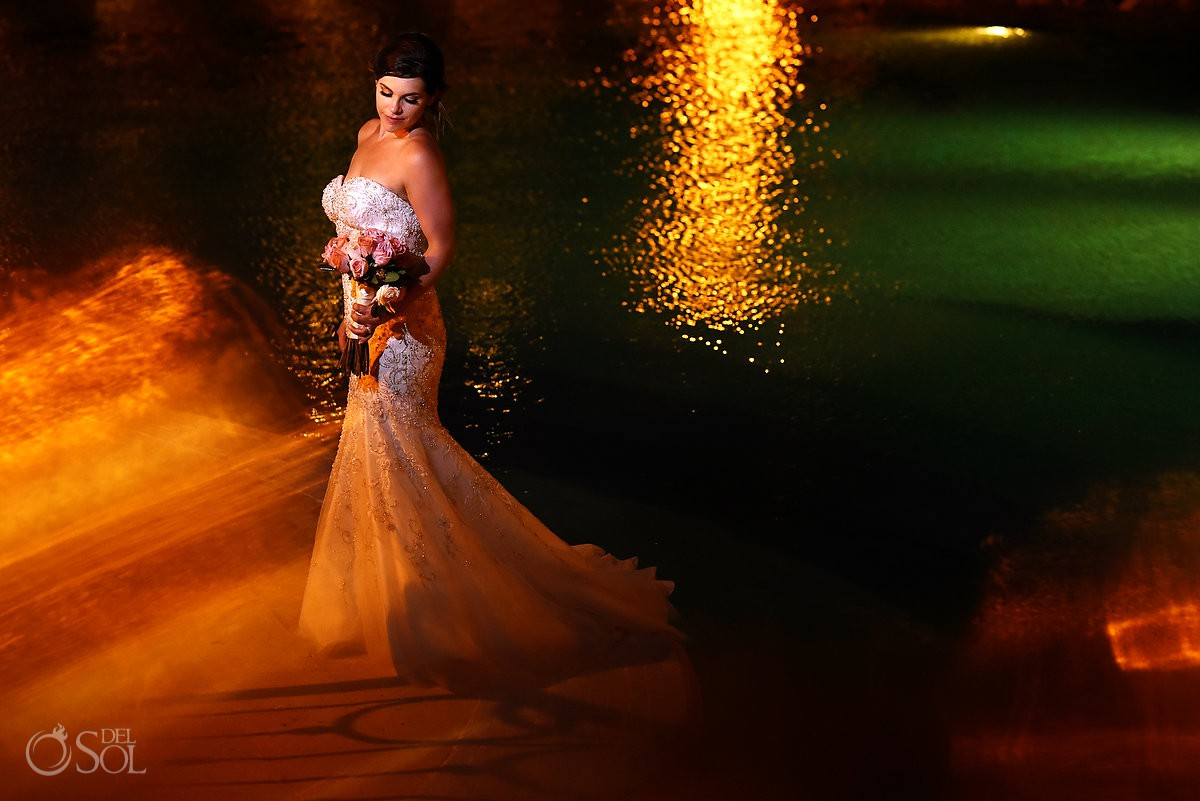Bride portrait destination wedding Secrets Capri Riviera Cancun Playa del Carmen Mexico