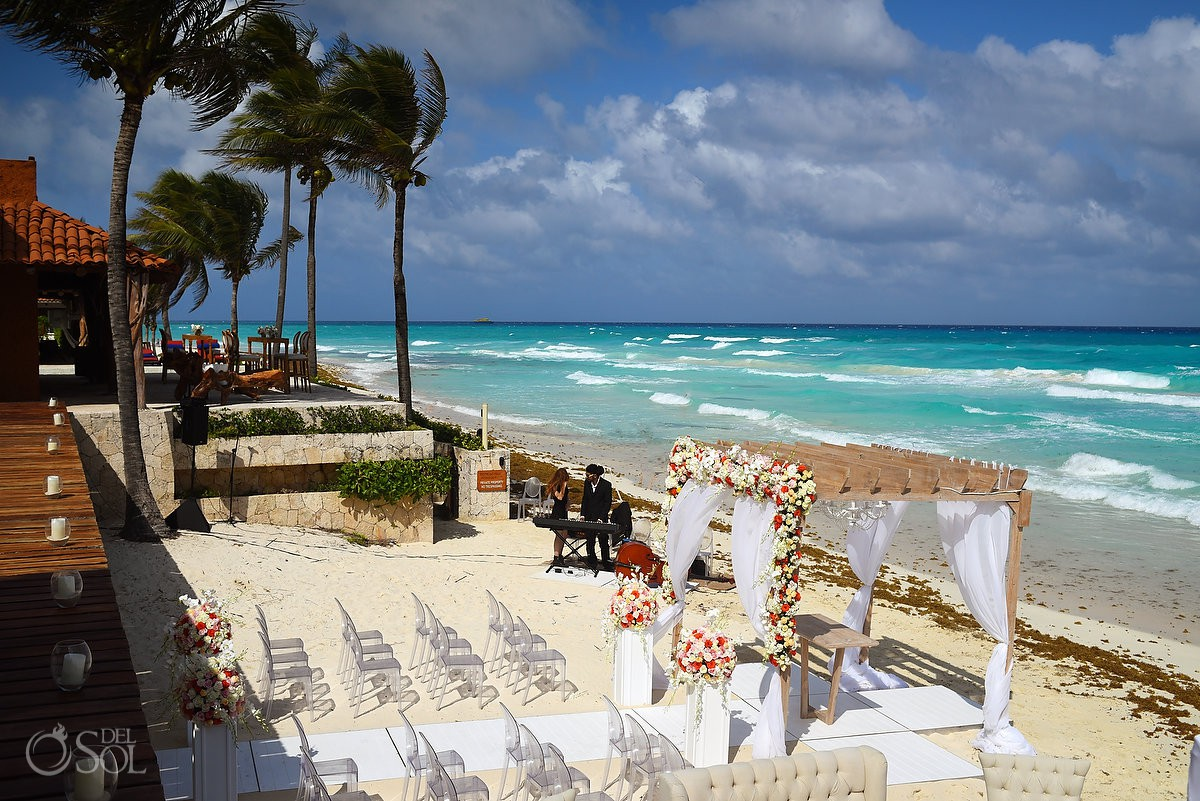 Beautiful destination wedding set up Wedding at Casa Corazon Playa del Carmen