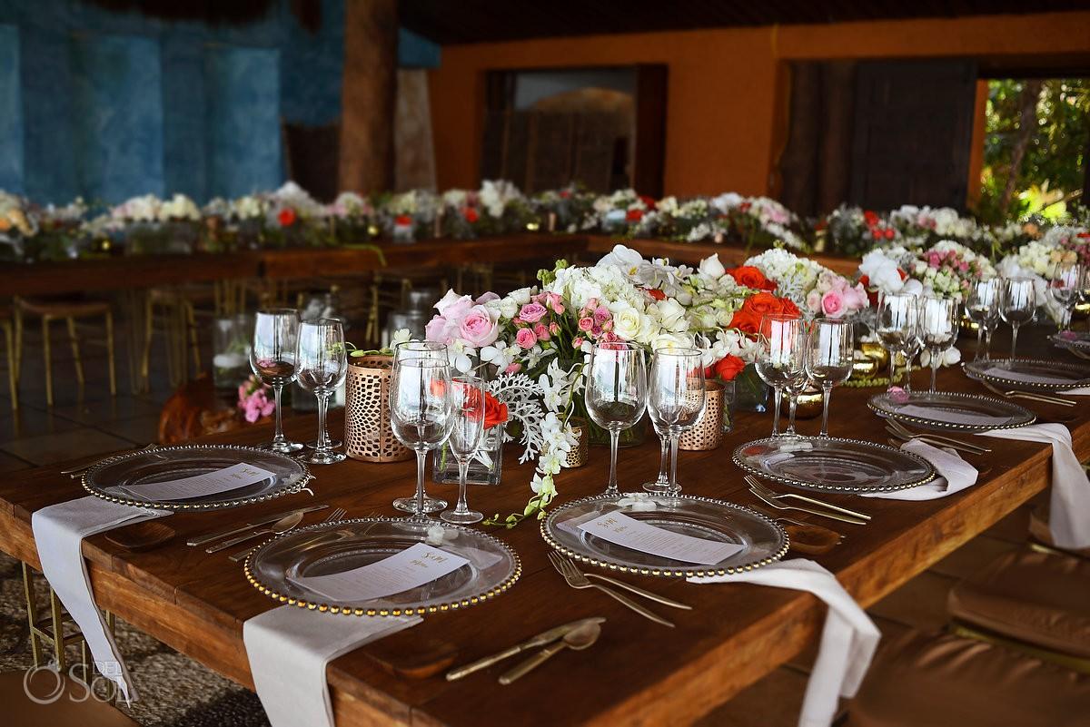 best wedding set up ideas Casa Corazon Playa del Carmen Mexico