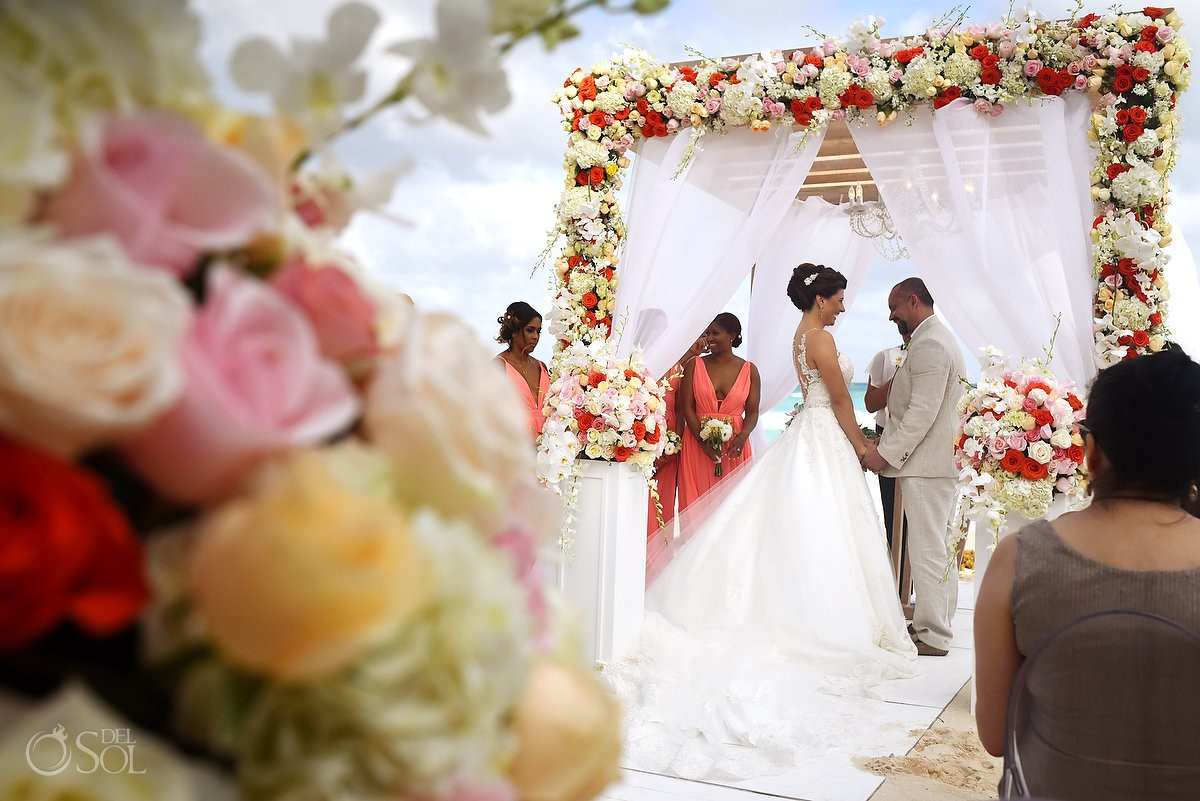 Beautiful wedding set up Casa Corazon Playa del Carmen, Mexico.