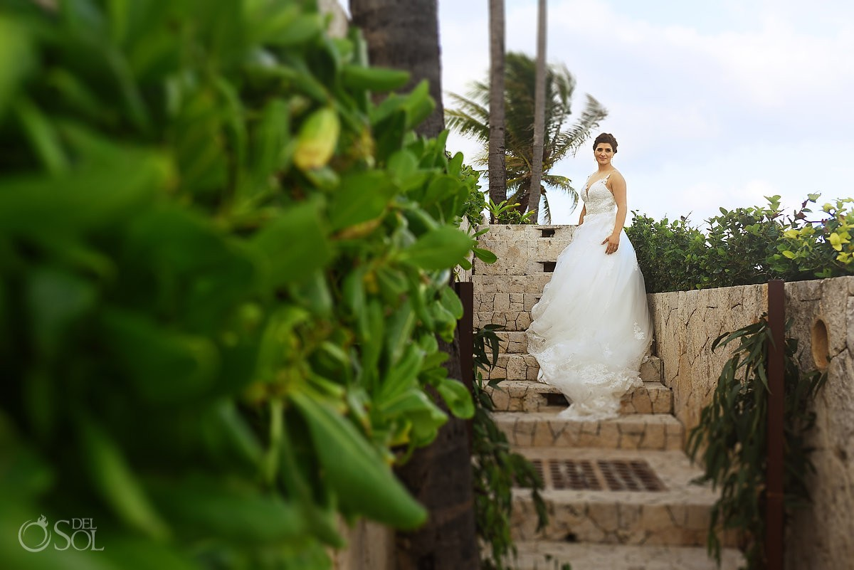 bride and groom destination wedding Casa Corazon Playa del Carmen, Mexico.