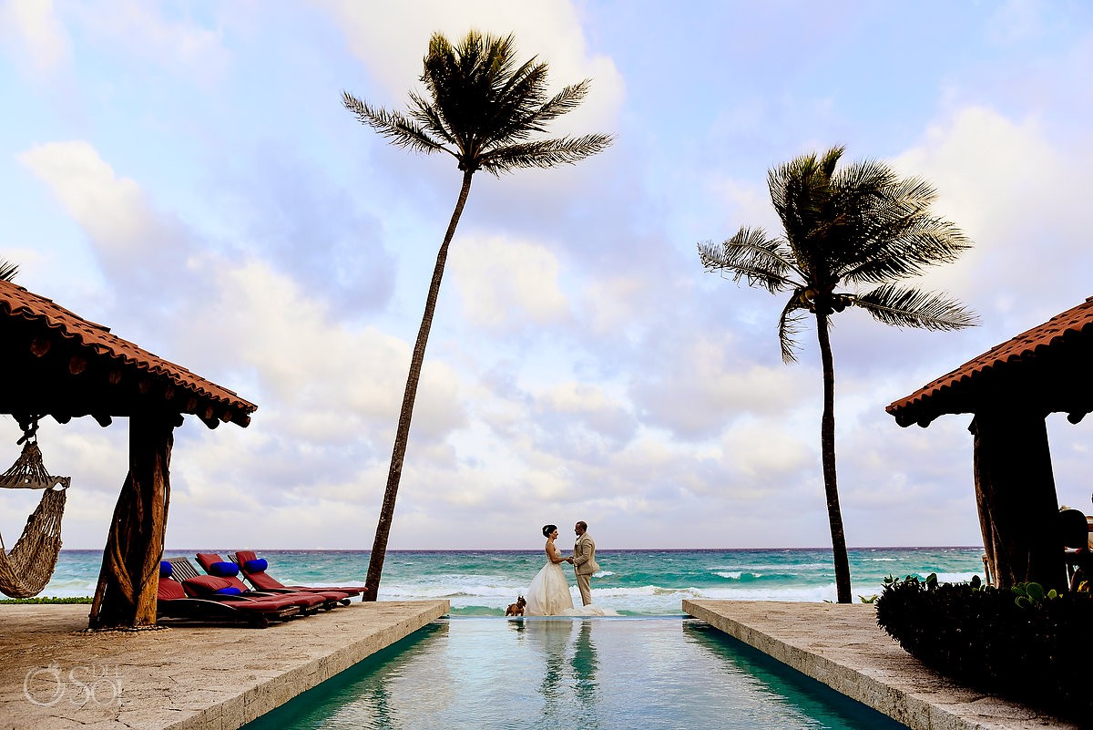 Destination wedding beach Casa Corazon Playa del Carmen, Mexico.
