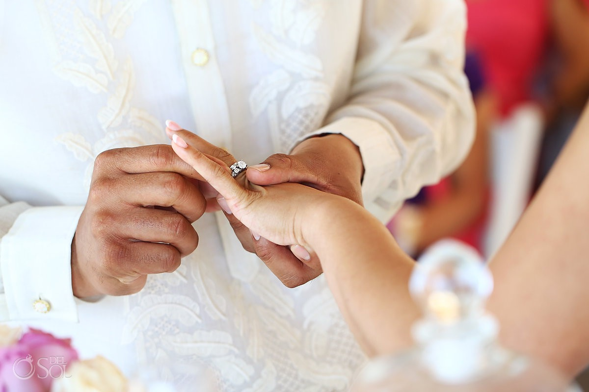 exchange wedding rings Hard Rock Hotel Riviera Maya Mexico