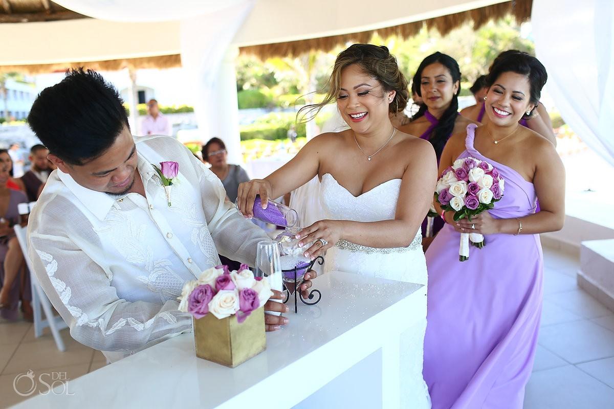 Wedding sand ceremony Hard Rock Hotel Riviera Maya Mexico