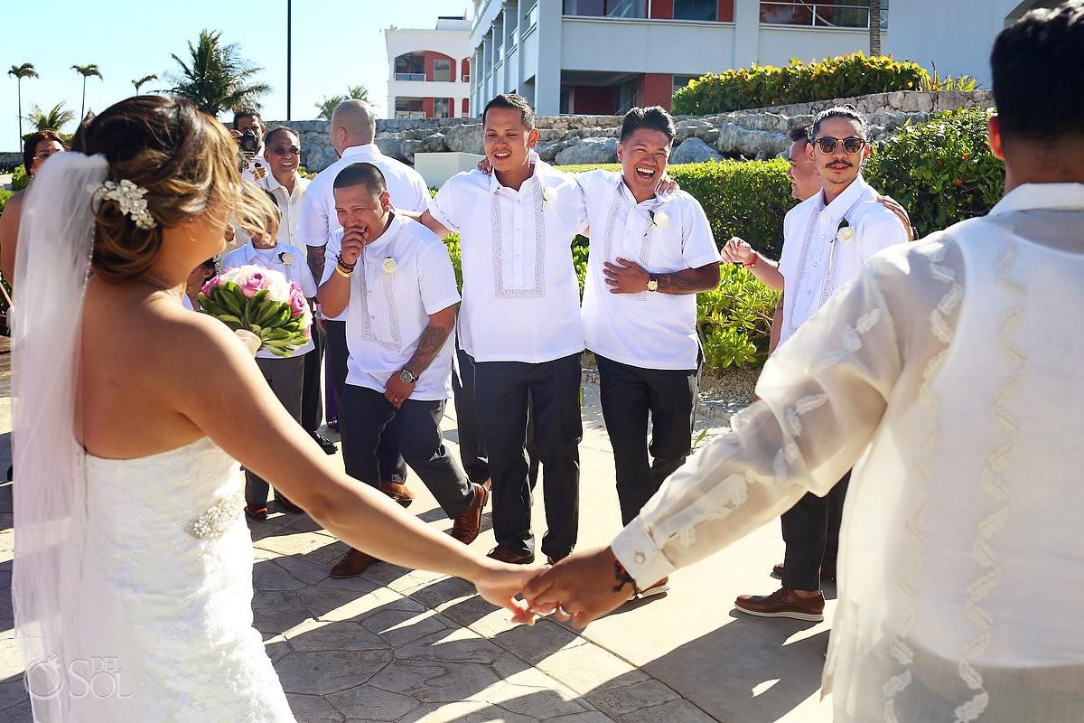Guest celebration just married destination Wedding Hard Rock Hotel Riviera Maya Mexico