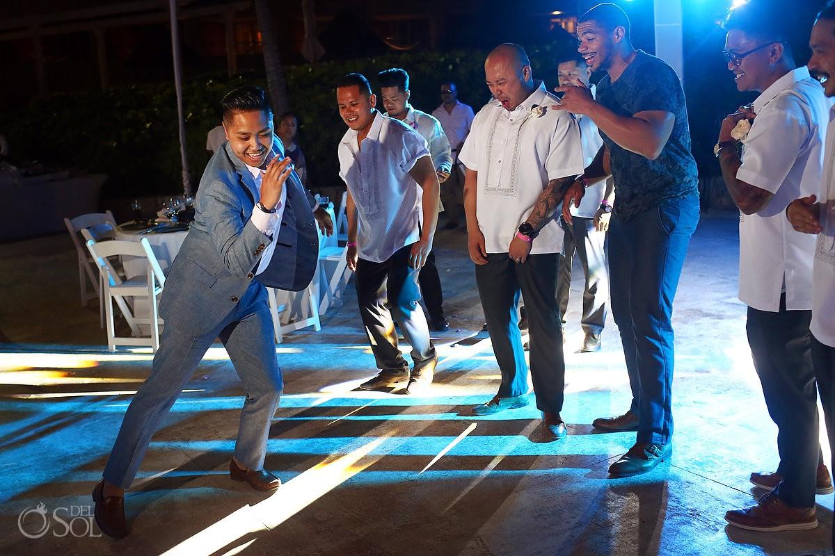 Wedding guest dancing Hard Rock Hotel Riviera Maya Mexico