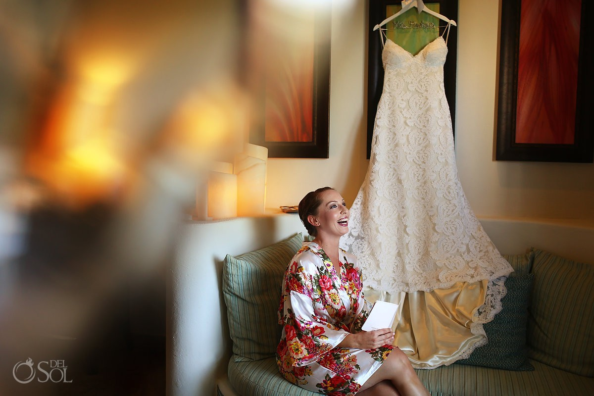Bride gettin ready Secrets Maroma Beach Riviera Cancun