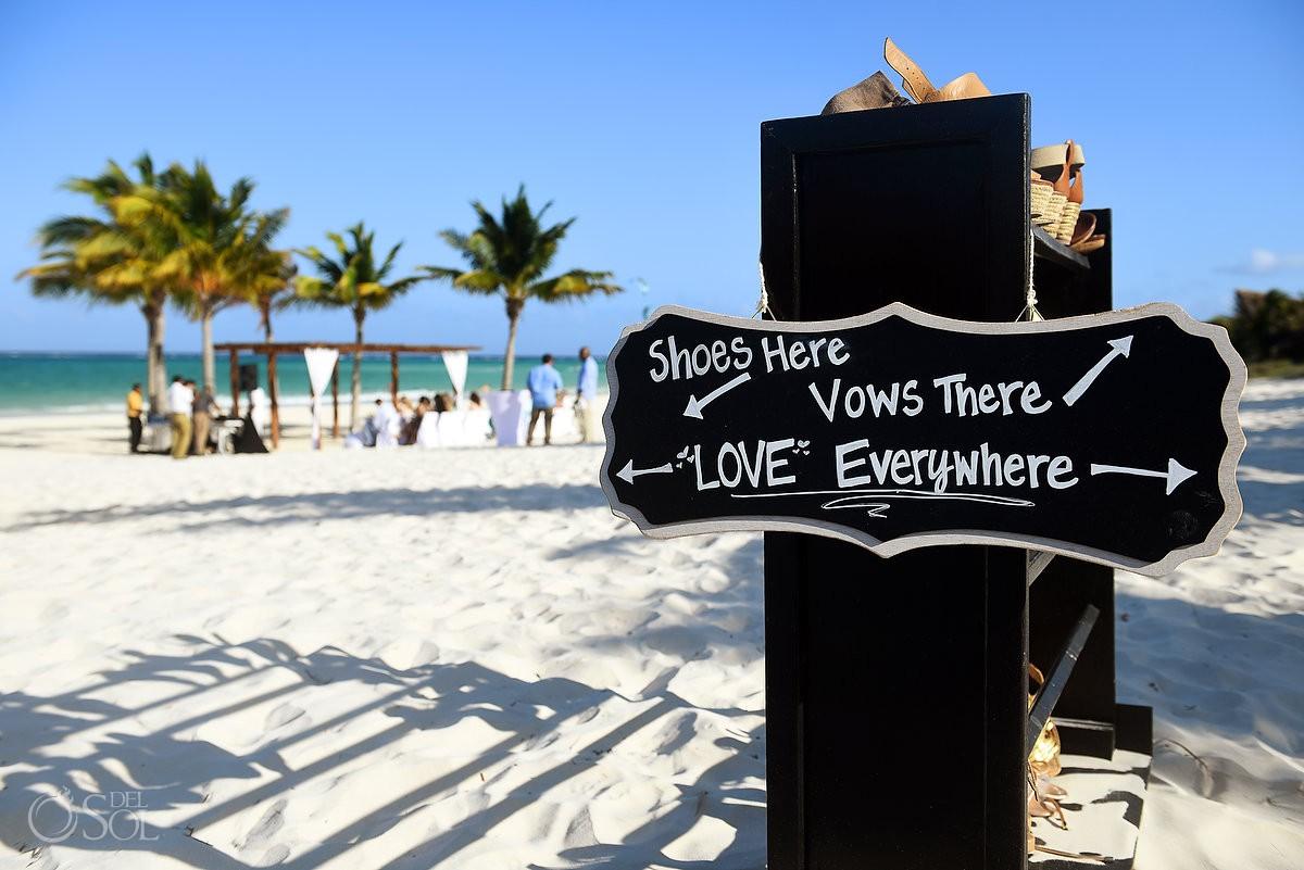 Wedding ceremony set up ideas destination wedding Secrets Maroma Beach Riviera Cancun