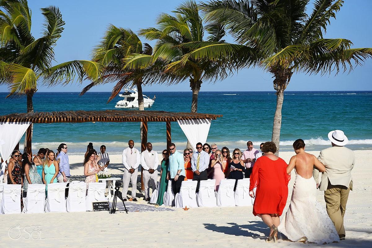 Destination beach wedding ceremony Secrets Maroma Beach Riviera Cancun