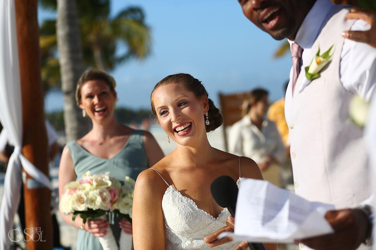 Wedding ceremony moments Secrets Maroma Beach Riviera Cancun