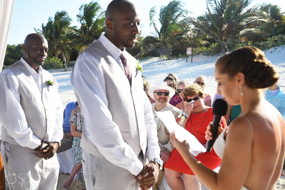 bride vows destination wedding Secrets Maroma Beach Riviera Cancun